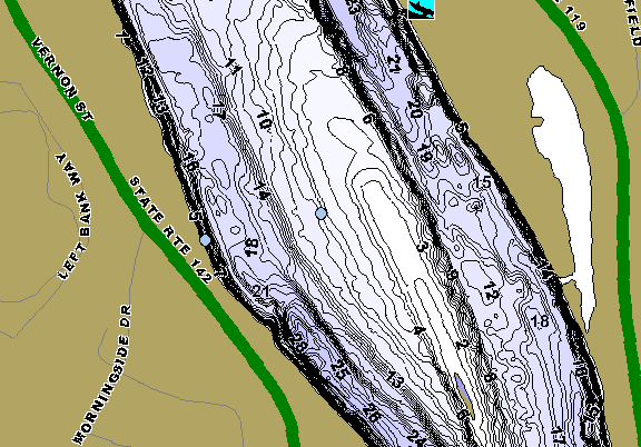 ChartSelect's contour preview for Connecticut River: Hinsdale LakeMaster HD Contour