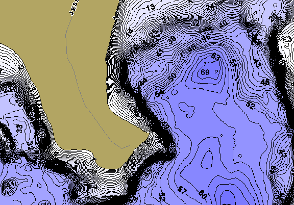 ChartSelect's contour preview for Big Fish LakeMaster HD Contour