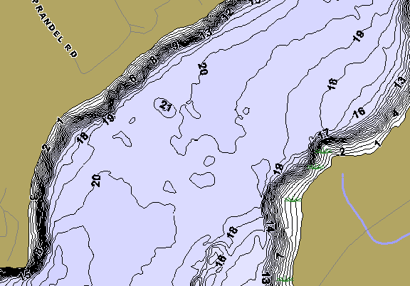 ChartSelect's contour preview for Big Pine LakeMaster HD Contour