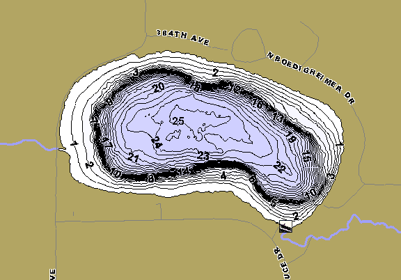 ChartSelect's contour preview for Boedigheimer LakeMaster HD Contour