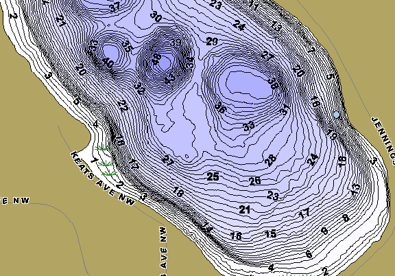 ChartSelect's contour preview for Camp LakeMaster HD Contour
