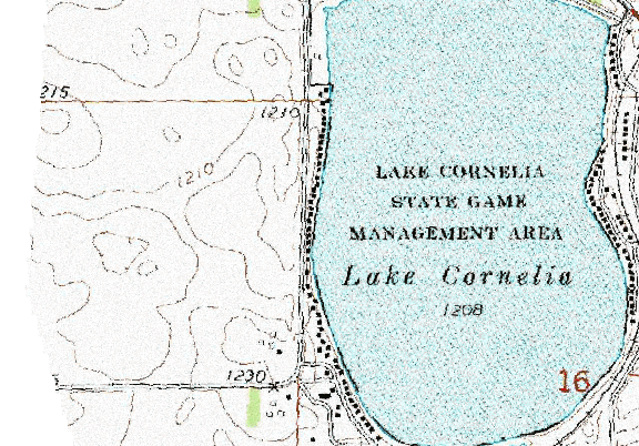 ChartSelect's contour preview for Cornelia LakeMaster Layer