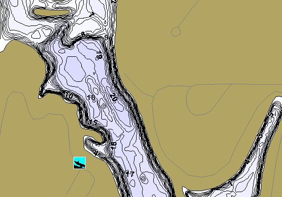 ChartSelect's contour preview for Cottonmill Reservoir LakeMaster HD Contour