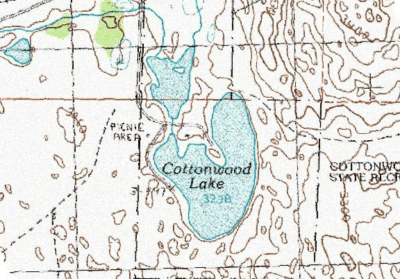 ChartSelect's contour preview for Cottonwood LakeMaster Layer