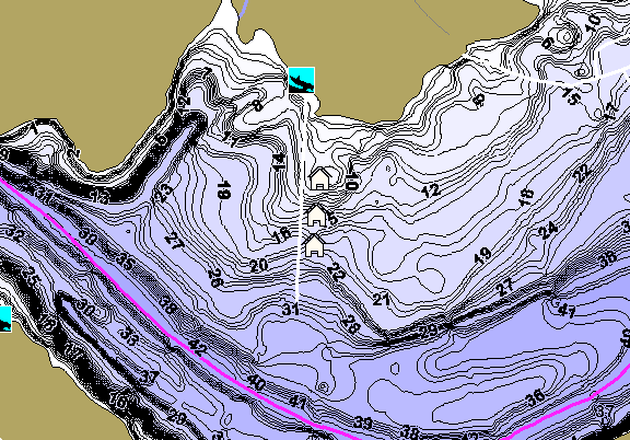 ChartSelect's contour preview for Cowanesque LakeMaster HD Contour