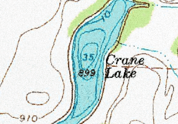 ChartSelect's contour preview for Crane LakeMaster Layer