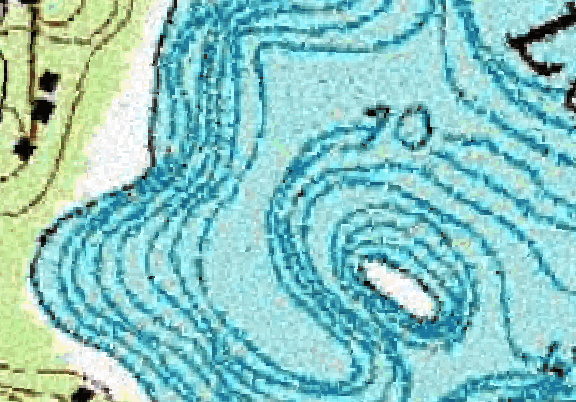 ChartSelect's contour preview for Crooked LakeMaster Layer