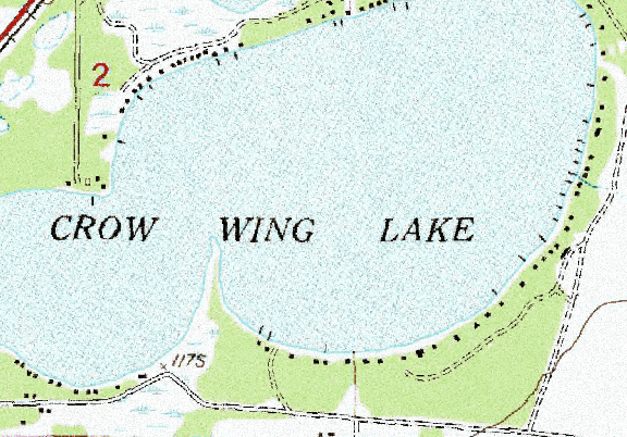 ChartSelect's contour preview for Crow Wing LakeMaster Layer