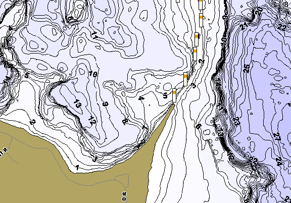ChartSelect's contour preview for Curfman LakeMaster HD Contour