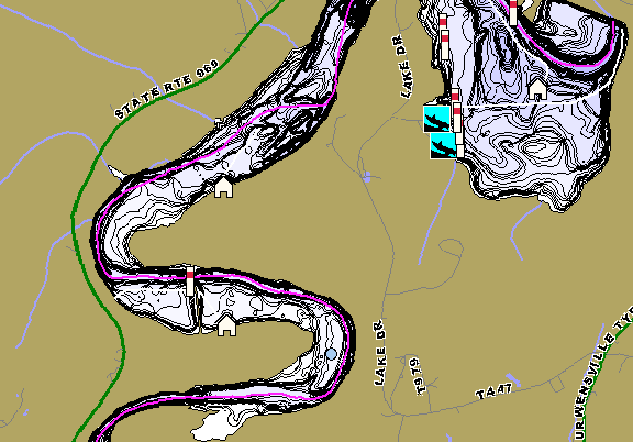 ChartSelect's contour preview for Curwensville LakeMaster HD Contour