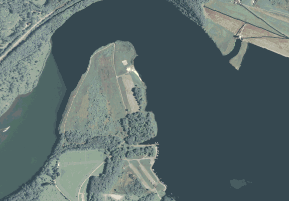 ChartSelect's contour preview for Curwensville LakeMaster Layer