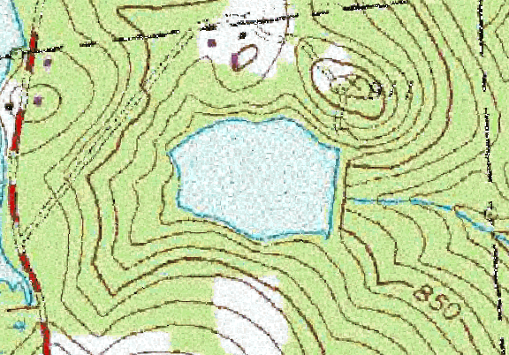 ChartSelect's contour preview for Cussgutter Pond/BG&F LakeMaster Layer