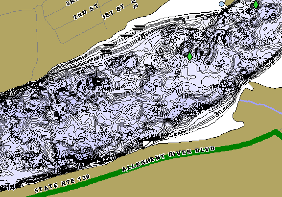 ChartSelect's contour preview for CW Bill Young LakeMaster HD Contour