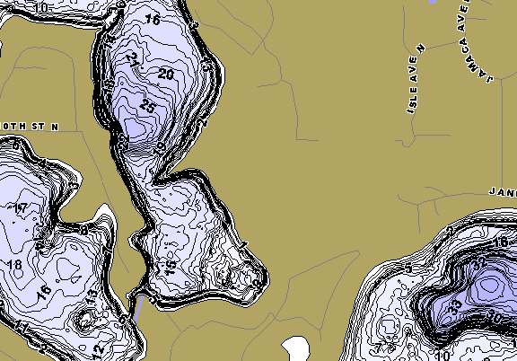 ChartSelect's contour preview for Demontreville, Olson, Jane LakeMaster HD Contour