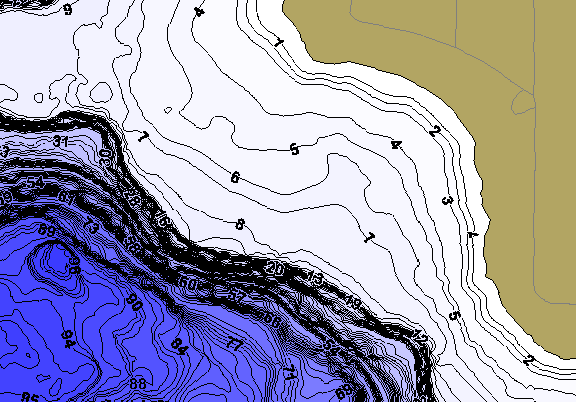 ChartSelect's contour preview for Duck LakeMaster HD Contour