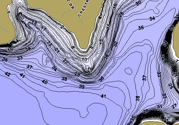 ChartSelect's contour preview for Eagle Mountain LakeMaster HD Contour