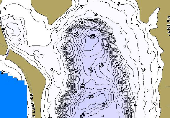 ChartSelect's contour preview for East Loon LakeMaster HD Contour