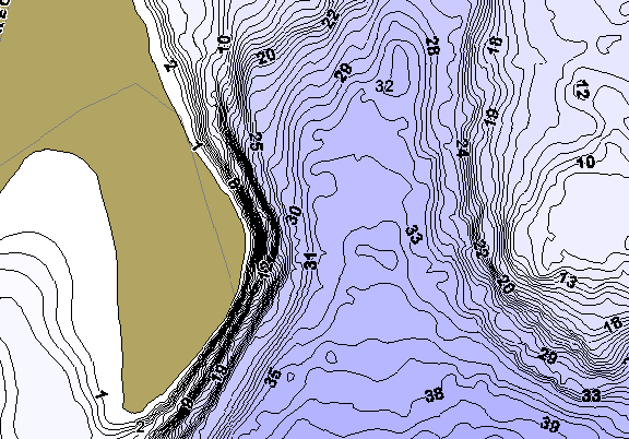 ChartSelect's contour preview for East Twin LakeMaster HD Contour