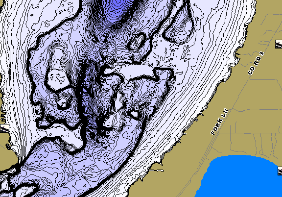 ChartSelect's contour preview for Lake Edward LakeMaster HD Contour