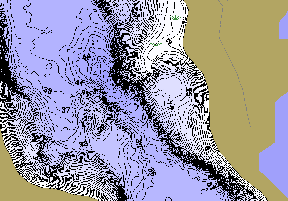 ChartSelect's contour preview for Elbow LakeMaster HD Contour