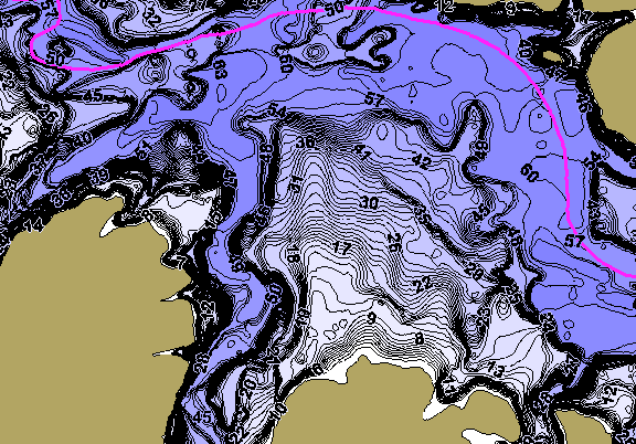 ChartSelect's contour preview for Eucha LakeMaster HD Contour