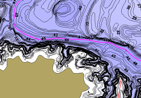 ChartSelect's contour preview for EV Spence LakeMaster HD Contour