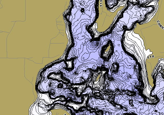 ChartSelect's contour preview for Farm Island LakeMaster HD Contour