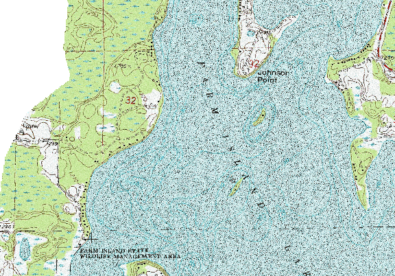ChartSelect's contour preview for Farm Island LakeMaster Layer