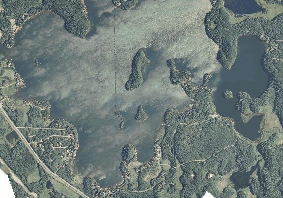 ChartSelect's contour preview for Fish Trap LakeMaster Layer