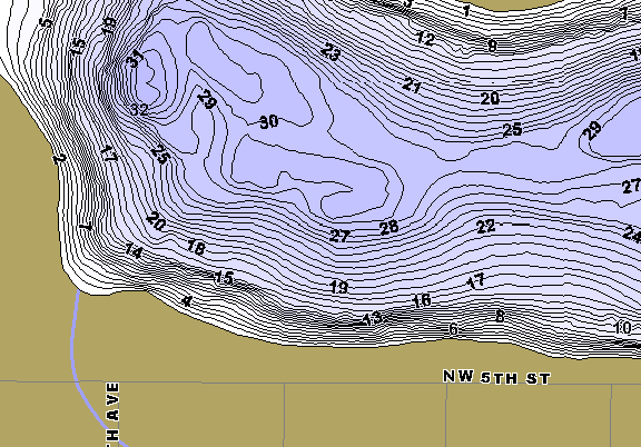 ChartSelect's contour preview for Forest LakeMaster HD Contour