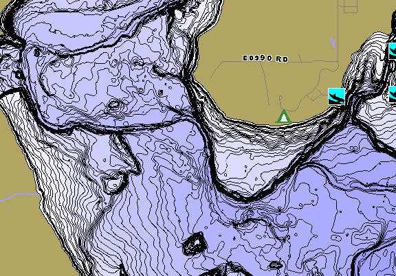ChartSelect's contour preview for Foss Reservoir LakeMaster HD Contour