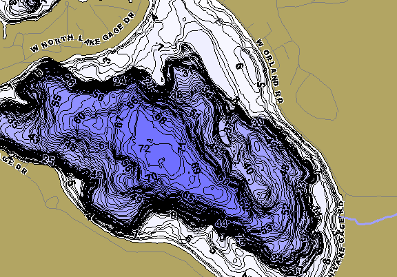 ChartSelect's contour preview for Gage LakeMaster HD Contour