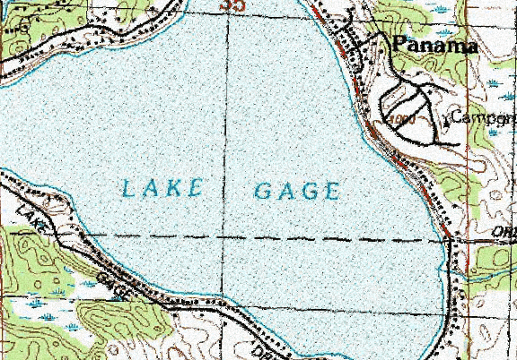 ChartSelect's contour preview for Gage LakeMaster Layer
