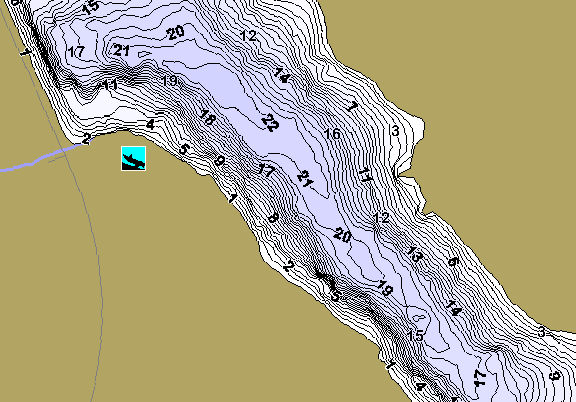 ChartSelect's contour preview for Geneva East LakeMaster HD Contour