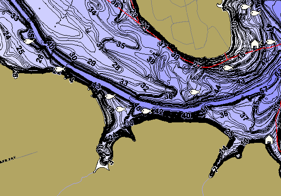 ChartSelect's contour preview for Georgetown LakeMaster HD Contour