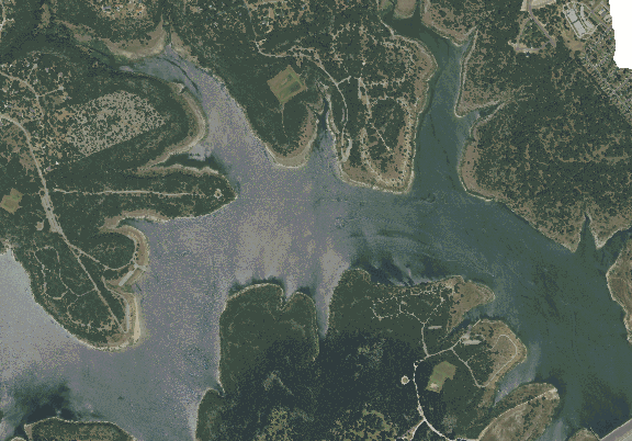 ChartSelect's contour preview for Georgetown LakeMaster Layer