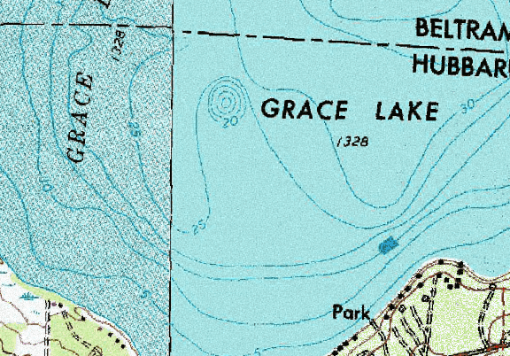 ChartSelect's contour preview for Grace LakeMaster Layer