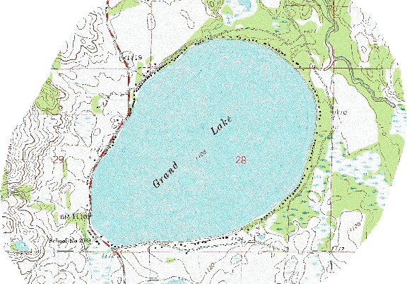 ChartSelect's contour preview for Grand LakeMaster Layer