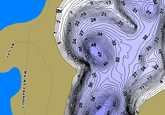 ChartSelect's contour preview for Grant LakeMaster HD Contour