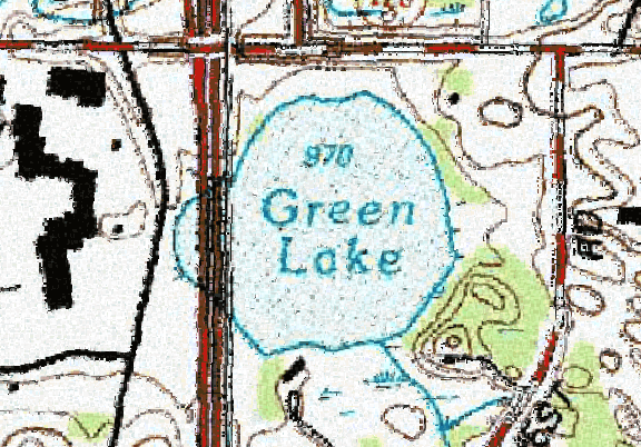 ChartSelect's contour preview for Green LakeMaster Layer