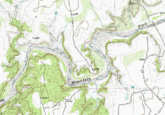 ChartSelect's contour preview for Alan Henry Reservoir LakeMaster Layer