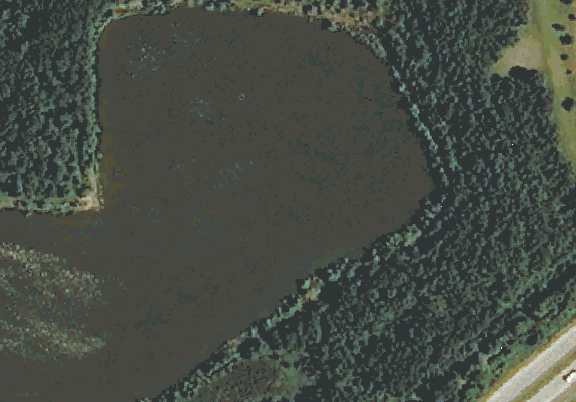 ChartSelect's contour preview for Green Belt LakeMaster Layer