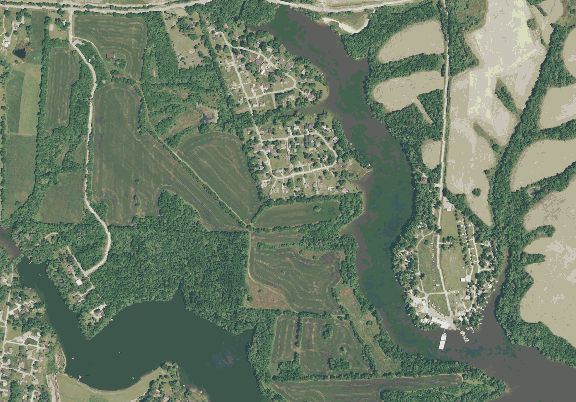 ChartSelect's contour preview for Guist Creek LakeMaster Layer