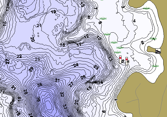 ChartSelect's contour preview for Hammal LakeMaster HD Contour