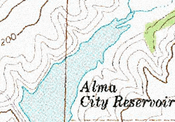 ChartSelect's contour preview for Alma LakeMaster Layer