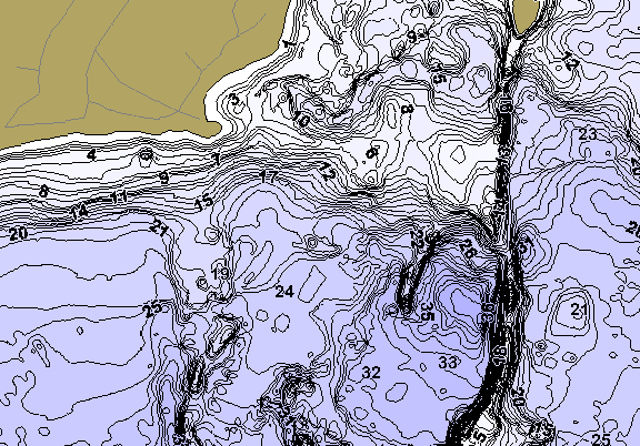 ChartSelect's contour preview for High LakeMaster HD Contour
