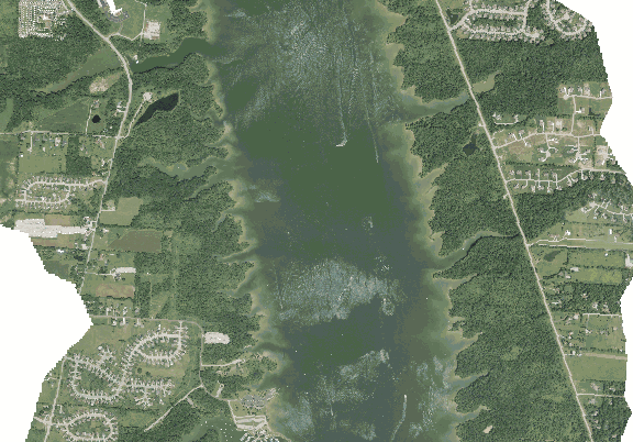 ChartSelect's contour preview for Alum Creek LakeMaster Layer