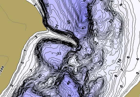 ChartSelect's contour preview for Amelia LakeMaster HD Contour