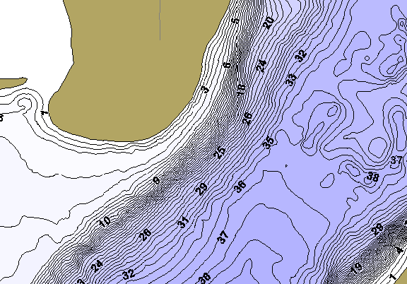 ChartSelect's contour preview for Horseshoe LakeMaster HD Contour