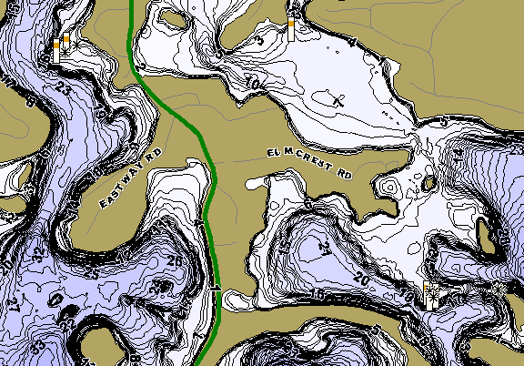 ChartSelect's contour preview for Horseshoe Chain LakeMaster HD Contour
